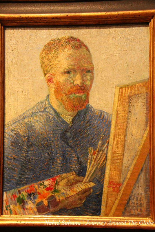 Last self-portrait by Van Gogh painted in 1888 in the Van Gogh Museum, Amsterdam