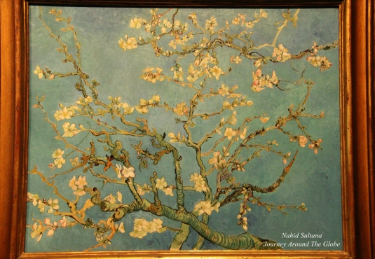 "Another famous painting by Van Gogh ""Almond Blossom"" from 1890 in Van Gogh Museum, Amsterdam"