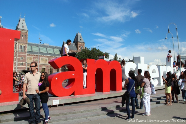 I AMsterdam in The Netherlands