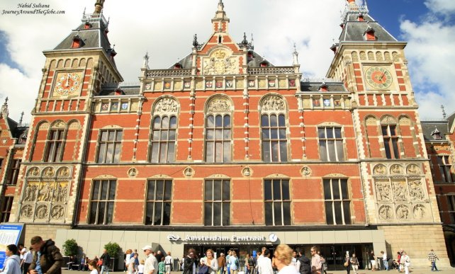 Amsterdam Central Station in The Netherlands