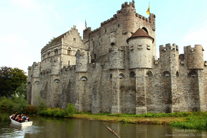 Counts Castle from the 12th century in Gent, Belgium