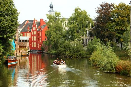 Historic district of Gent, Belgium