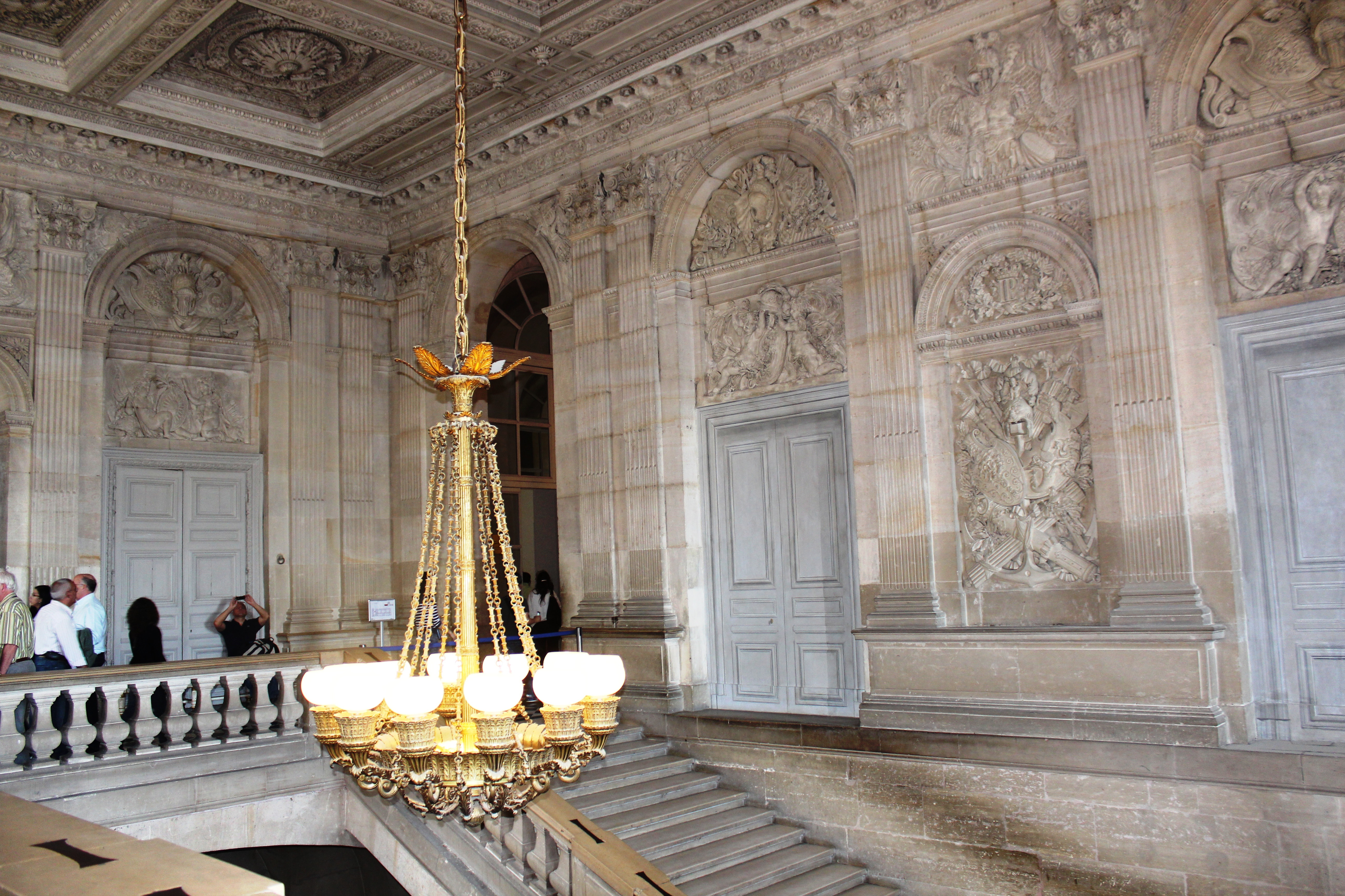 The Staircase Of Versailles Palace In France