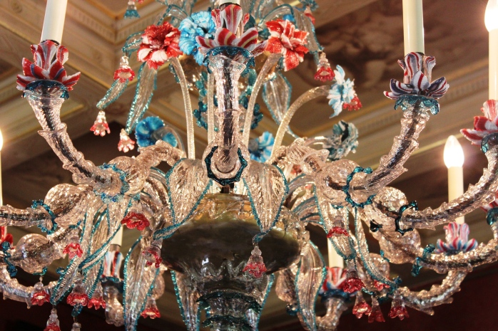 An original Venetian chandelier, look at the detailed work