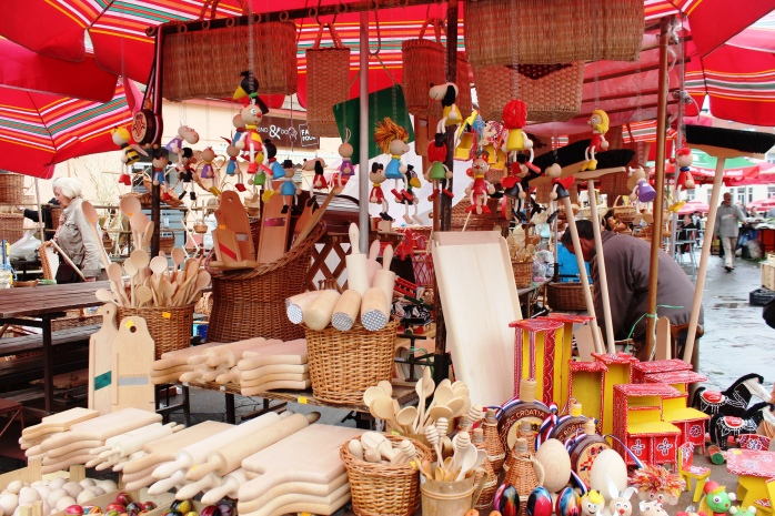 Colorful trinkets in Dolac Market