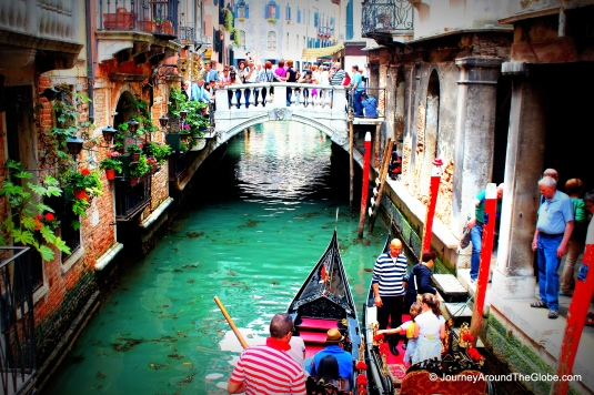One of the inner canals of Venice, look at those beautifully decorated windows