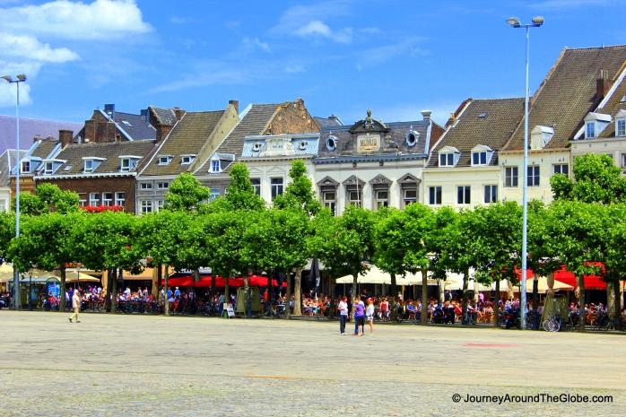 Cafes in Vrijthof, Maastricht, The Netherlands