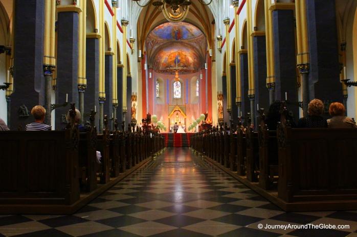Inside Basilica of St. Servetius
