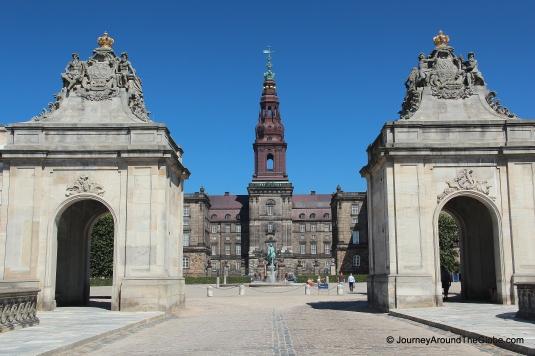 Entering Christiansborg Palace in Copenhagen, Denmark
