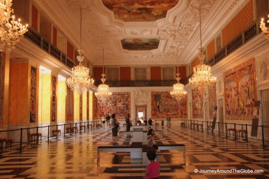 Great Hall inside Christiansborg Palace, Copenhagen, Denmark