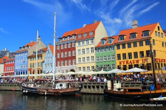 Burst of colors in Nyhavn (New Harbor) of Copenhagen, Denmark