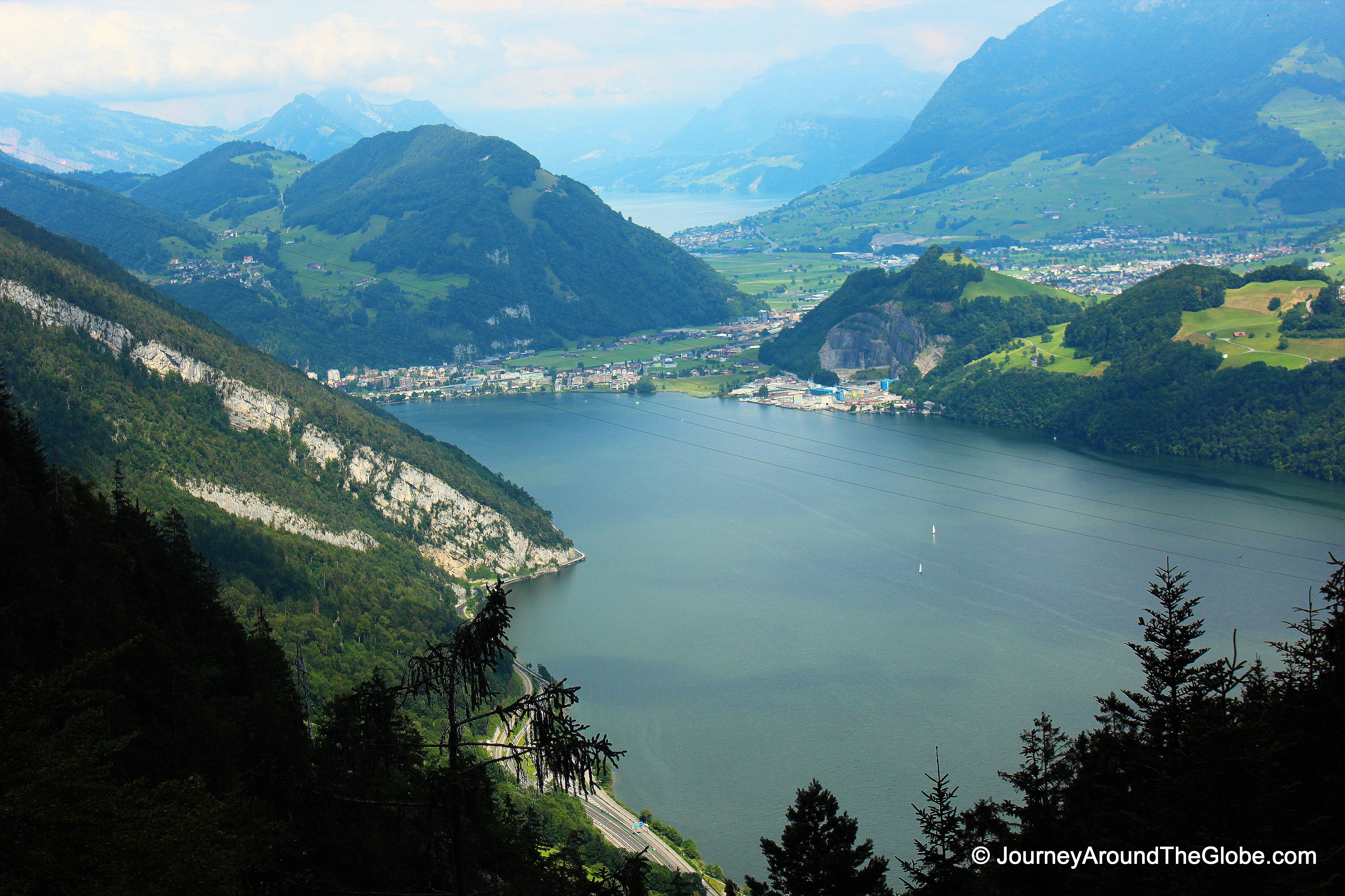 View Of Lucerne Bay As We Were Going Down The Mountain In Switzerland