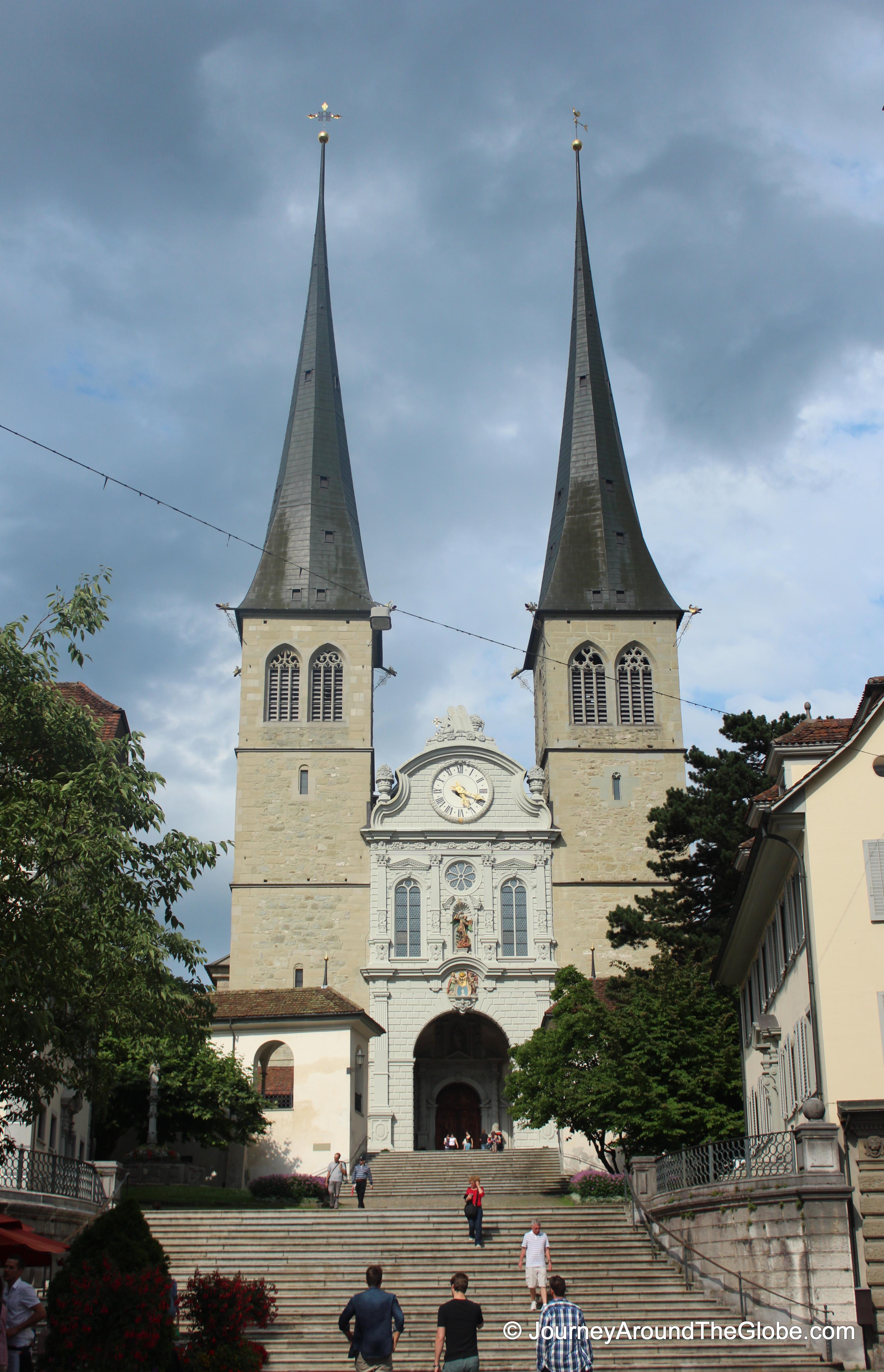Hofkirche In Lucerne, Switzerland