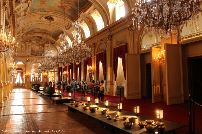 One of the big halls of Royal Palace of Brussels in Belgium