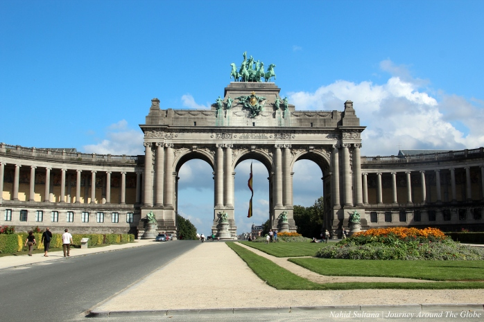Jubilee Park in the heart of Brussels, Belgium
