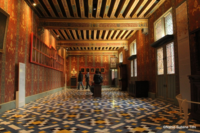 One of the noble rooms of Chateau de Blois, France