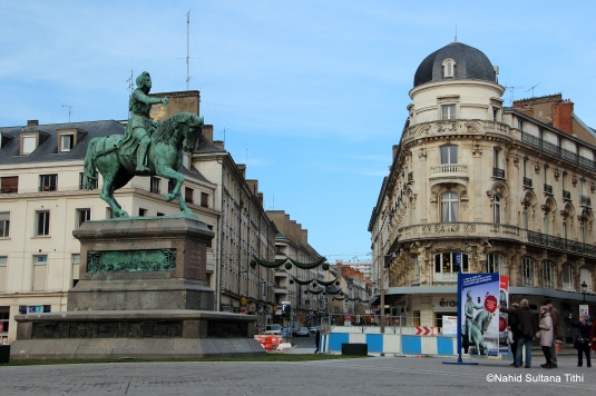Statue of Joan of Arc in Place du Martroi, Orleans, France