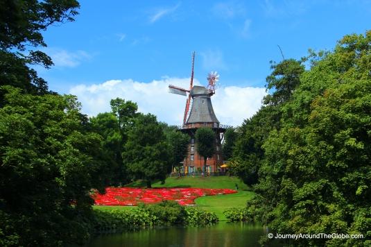 An old style windmill (Kaffe Muhler) in Bremen, Germany