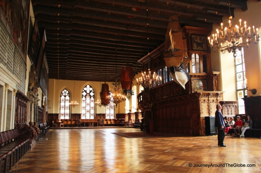 Inside Bremen Town Hall - a main hall (Germany)