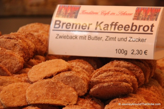 Bremen sweet treats in Schnoor (Germany)