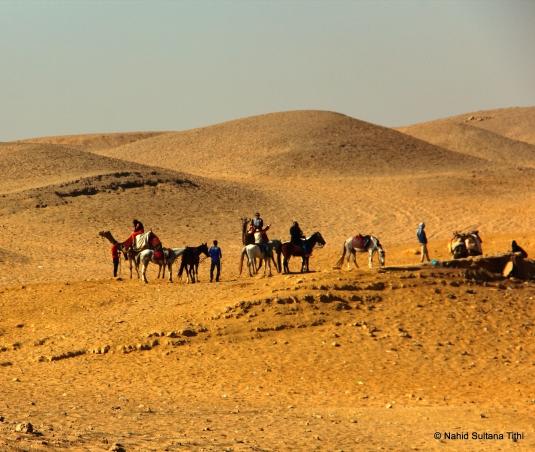 The desert in Giza Necropolis, Egypt