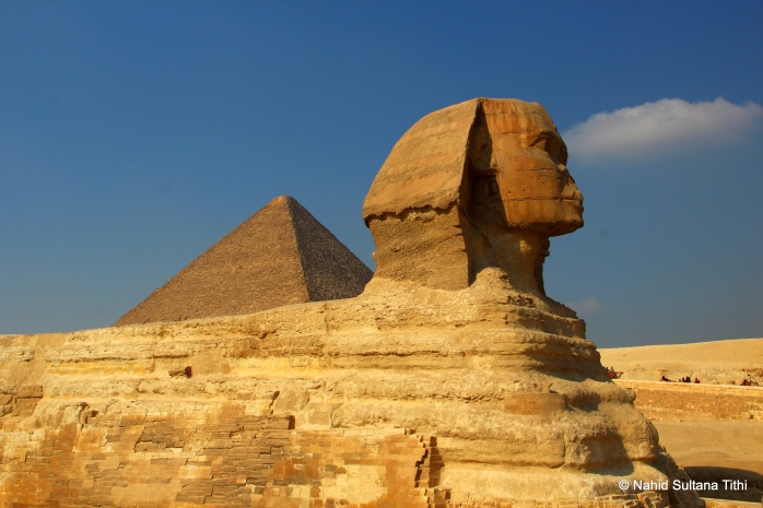 Sphinx of Giza, the biggest sphinx in Egypt