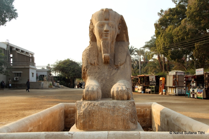 An alabaster sphinx in the open air museum of Memphis, known as Sphinx of Memphis - also from the New Kingdom