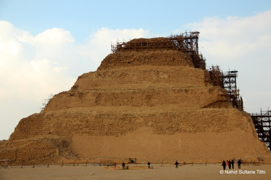 Step pyramid of Saqqara Necropolis - the first and oldest pyramid in Egypt