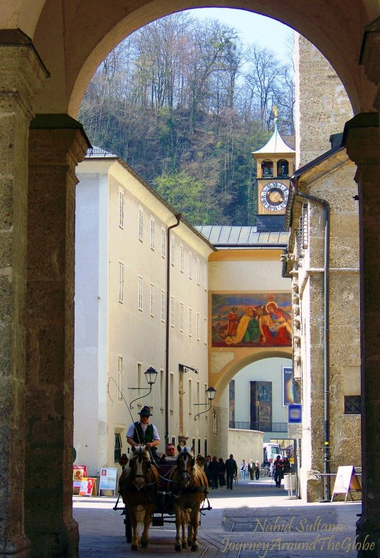 Old town of Salzburg - kept its traditional look from many centuries ago