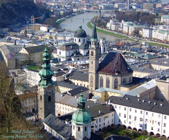 Stunning view of Salzburg from Hohensalzburg Fortress