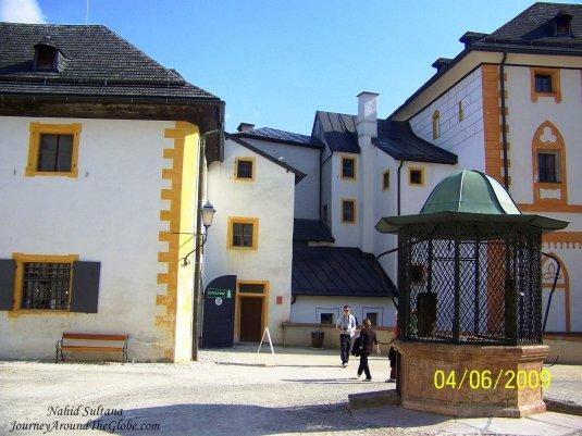 Old barracks and quarters of Hohensalzburg Fortress in Salzburg, Austria