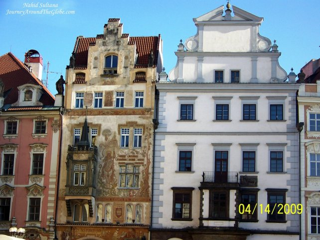 Some Renaissance and Baroque buildings in Old Town Prague