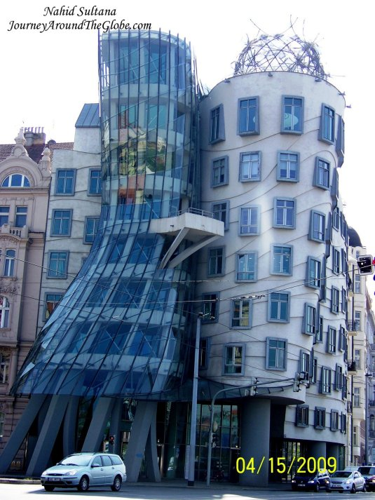"""Fred and Ginger"" or ""Dancing House"" in Prague, Czech Republic"
