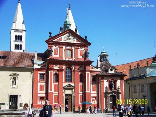 Basilica of St. George inside the complex of Prague Castle