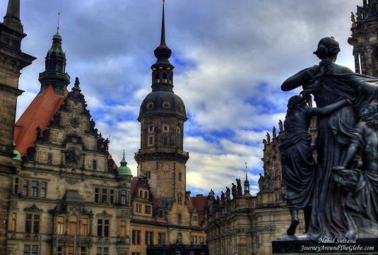 Old buildings of Dresden, Germany