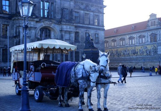 City center or old town of Dresden, Germany