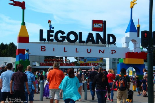 Entering Legoland Billund in Denmark
