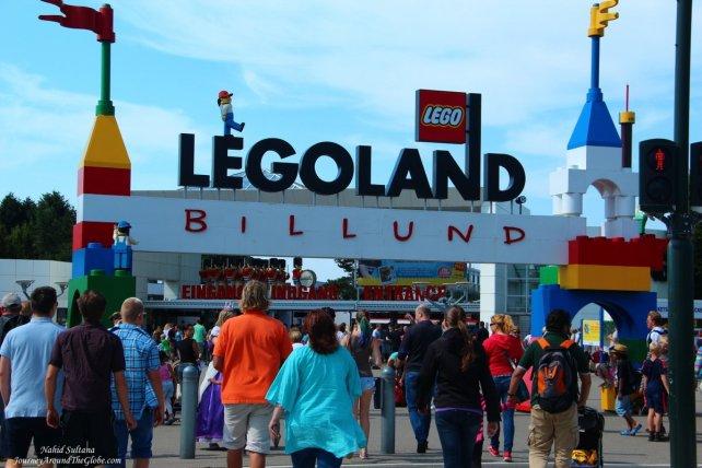 Entering Legoland Billund in Denmark