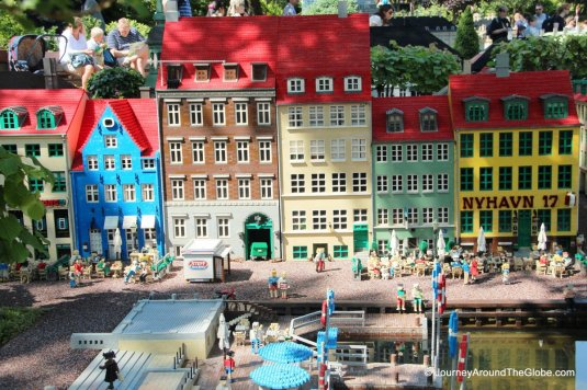 Miniature version of Copenhagen's Nyhavn in Legoland Billund