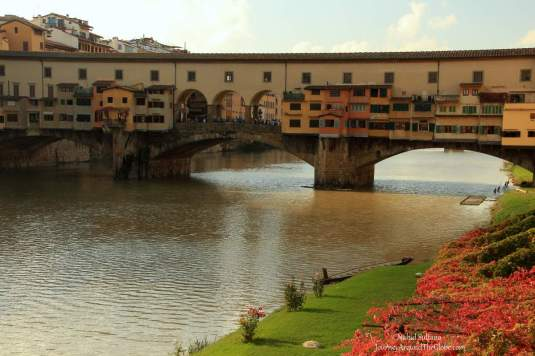 Ponte Vecchio over River Arno in Florence, Italy
