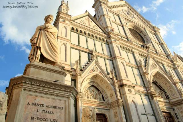 Santa Croce in Florence, Italy - the final resting place for Galileo, Michelangelo, Dante, and many more Florentines
