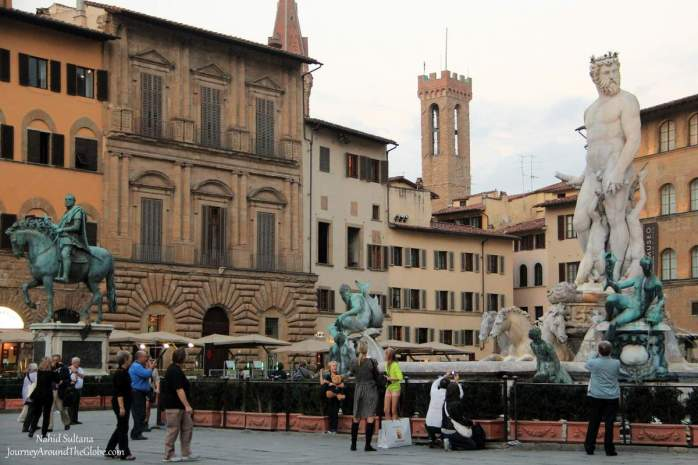 Piazza della Signoria - one of the most energetic squares of Florence in Italy