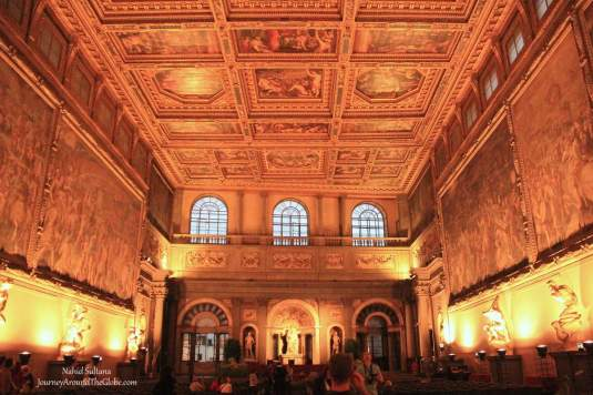One of the grand rooms of Palazzo Vecchio in Florence, Italy