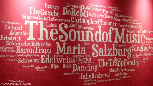 "One of the walls in our hotel, dedicated to the movie ""Sound of Music"", in Salzburg, Austria"