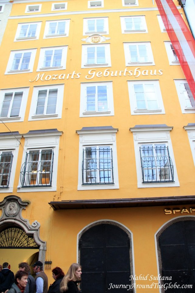 Mozart's Birthplace where he was born in 1756 and spent his childhood...Salzburg, Austria