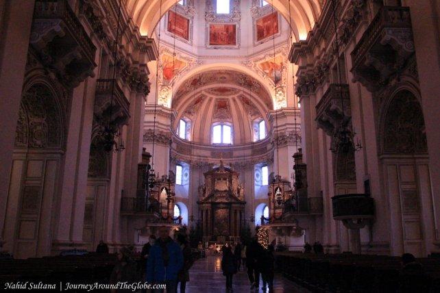 Inside Salzburg/Dome Cathedral in Salzburg, Austria