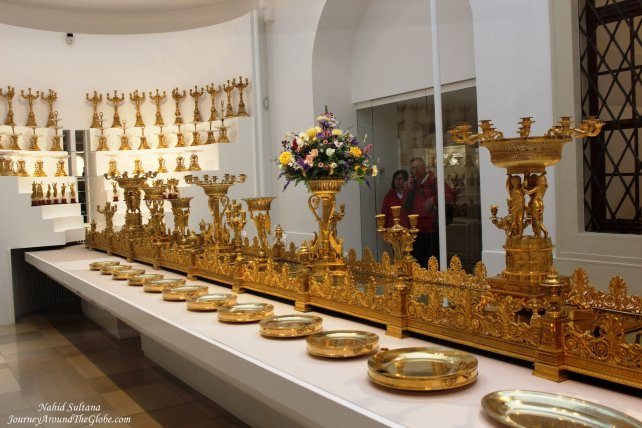 Hofburg Imperial Palace in Vienna - the way dinner table used to be decorated for the royal guests