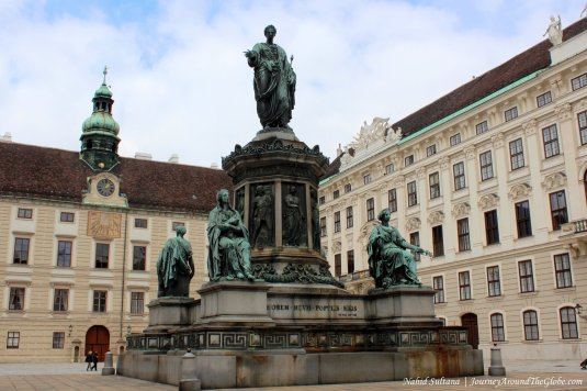 A courtyard of Hofburg Palace in Vienna, Austria