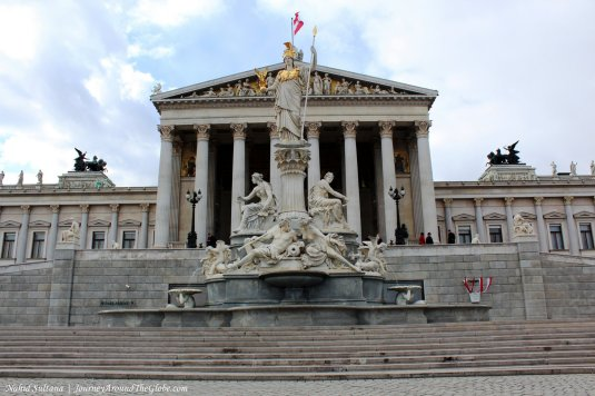 Austrian National Parliament in Vienna, Austria