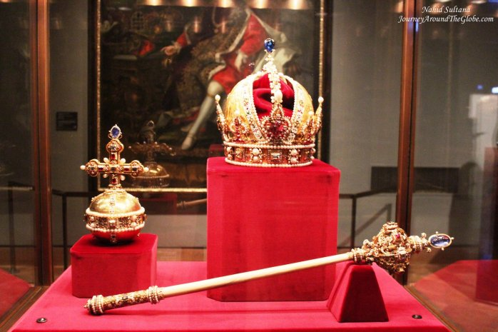 Royal Crown and scepter in Treasure Museum of Vienna, Austria